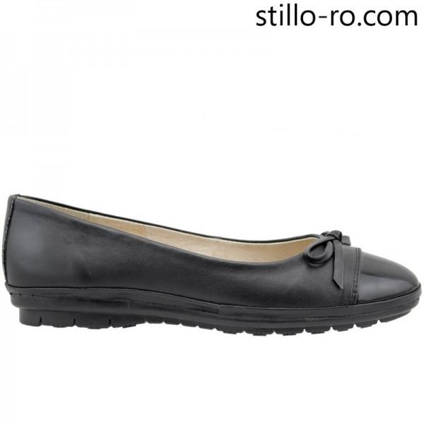 Pantofi plati din piele naturala - 26087