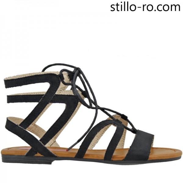 Sandale dama fara toc cu sireturi - 27039