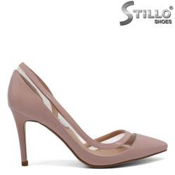 Pantofi de dama cu varf ascutit si culoare pudra - 28333
