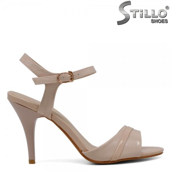 Sandale bej cu toc inalt - 28497