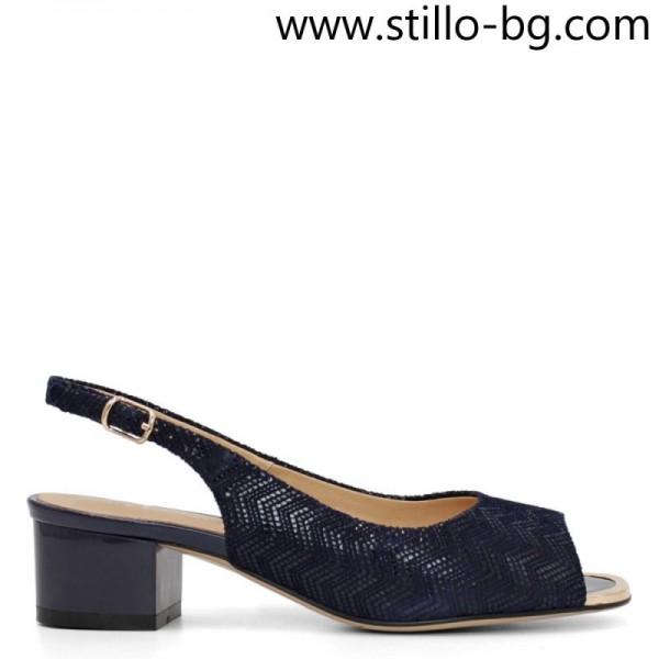 Sandale din piele cu toc, masuri mici, incepand cu 34 - 29147