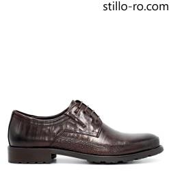 Pantofi stilati de barbat din piele naturala maro - 29278