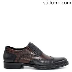 Pantofi eleganti de barbat cu perforatie elvetiana - 29288