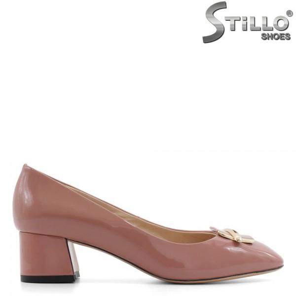 Pantofi roz de dama, din lac natural - 29454