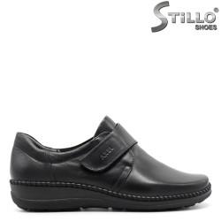Pantofi negri comfortbili din piele naturală și arici - 29467