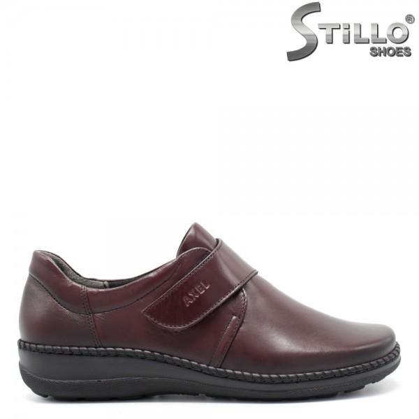 Pantofi anatomici bordo, din piele naturala - 29473