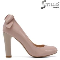 Pantofi roz de damă pe toc înalt - 29572