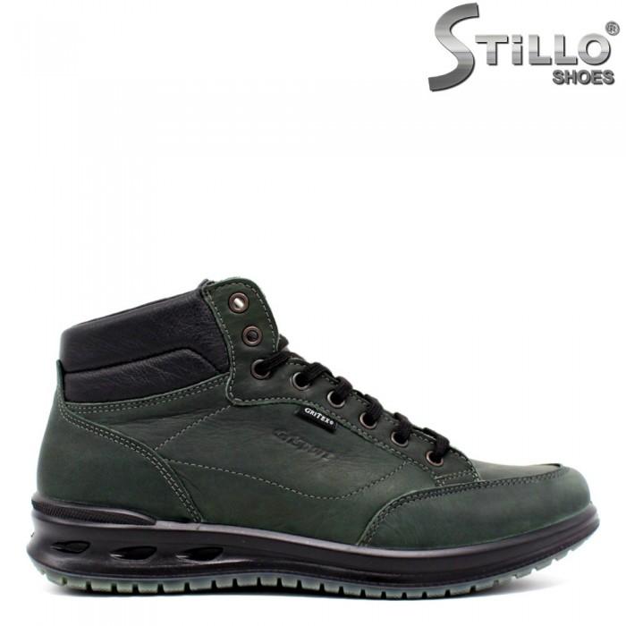 Pantofi turistice de barbat de culoare verde si neagra - 29845