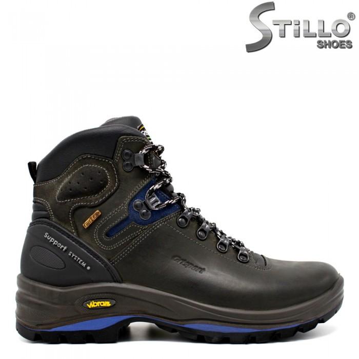 Ghete trekking pentru tineri, de culoare maro, neagra si albastra - 29849