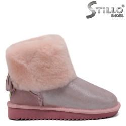 Ghete de culoare roz cu manseta din puf - 29886