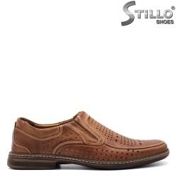 Pantofi barbati cu perforatie din piele naturala - 26765