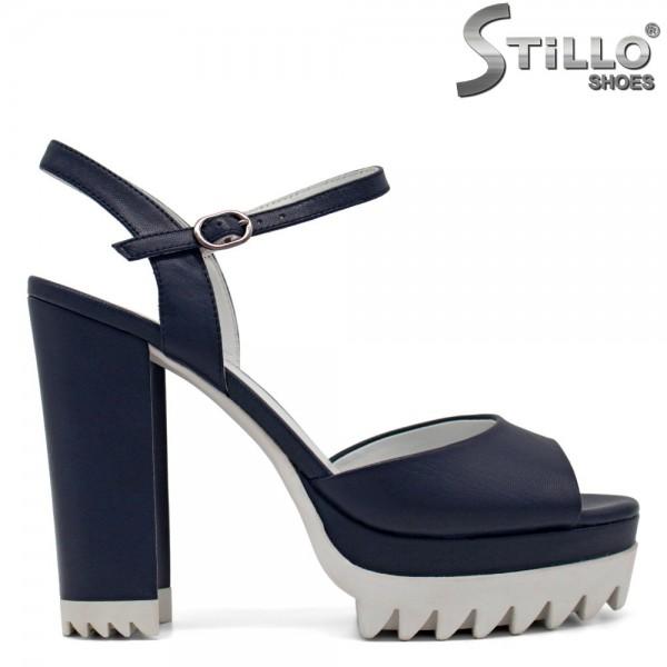 Sandale dama cu toc inalt din piele naturala - 27059