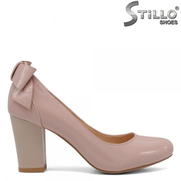 Pantofi de dama din lac de culoare roz cu marimi incepand de la nr 33 - 30068