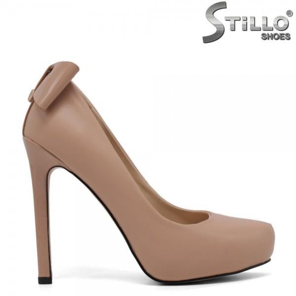 Pantofi cu toc inalt si platforma ascunsa de culoare roz - 30070