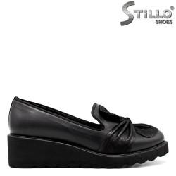 Pantofi de dama pe platforma din piele naturala - 30071