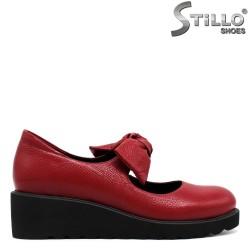 Pantofi de dama de culoare rosii din piele naturala - 30074