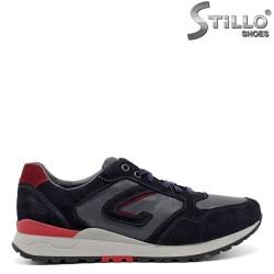 Pantofi tip sport barbatesti marca GRISPORT de culoare albastru si bordo - 30083
