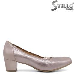 Pantofi Caprice de culoare roz din piele naturala - 30088