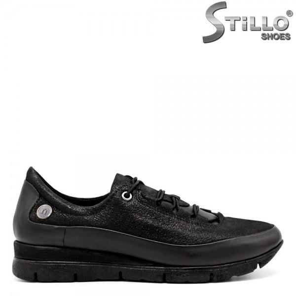 Pantofi de dama tip sport cu sireturi elastice - 30089