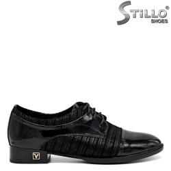 Pantofi de dama din piele naturala cu sireturi ,marimi mici - 30092