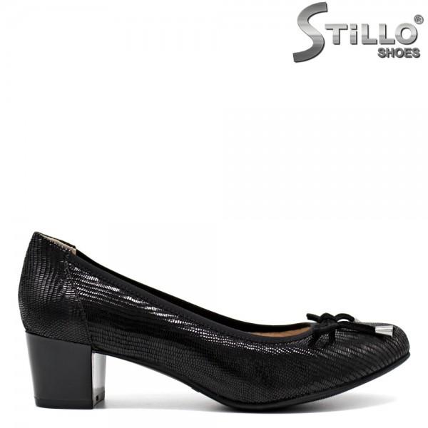 Pantofi de dama din piele naturala marca CAPRICE cu toc mijlociu - 30095
