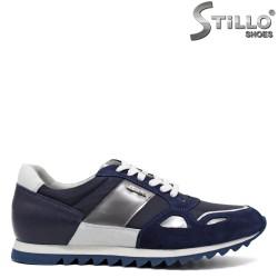 Pantofi barbatesti tip sport de culoare albastru,alb si argintiu - 30099