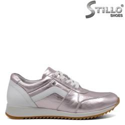 Pantofi sport de culoare roz si alb - 30111