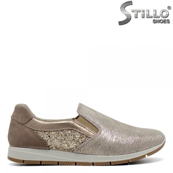 Pantofi sport italienesti marca IMAC de culoare bej si auriu - 30131