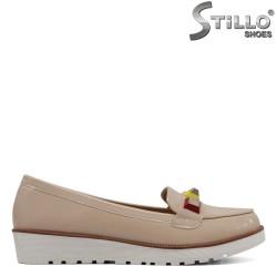 Pantofi de zi cu zi de culoare bej cu platforma dreapta- 30137