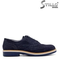 Pantofi barbatesti din velur marca IMAC de culoare albastru- 30160