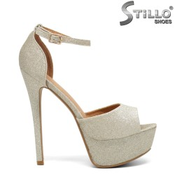 Sandale pentru absolvente  de culoare aurii - 30182