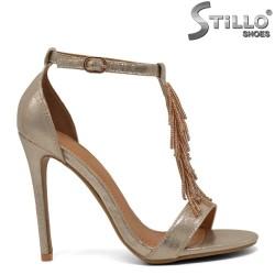 Sandale aurii cu toc inalt - 30195