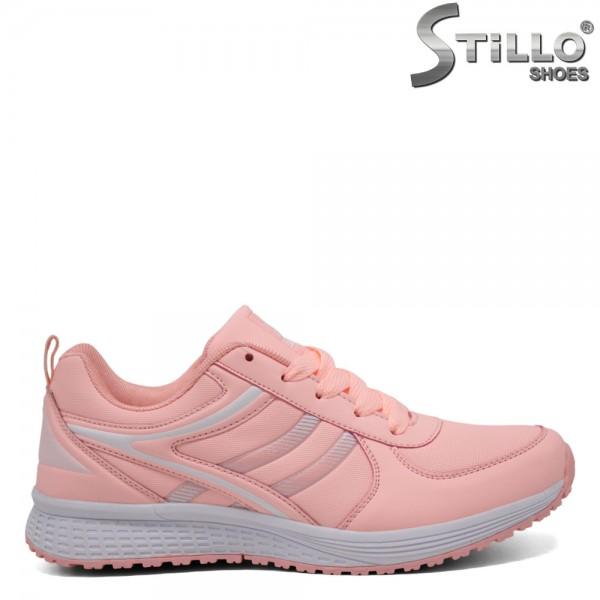 Adidasi cu sireturi de culoare roz - 30198