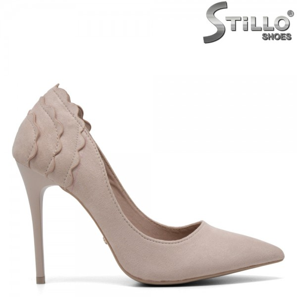 Pantofi eleganti de culoare bej cu toc inalt - 30204