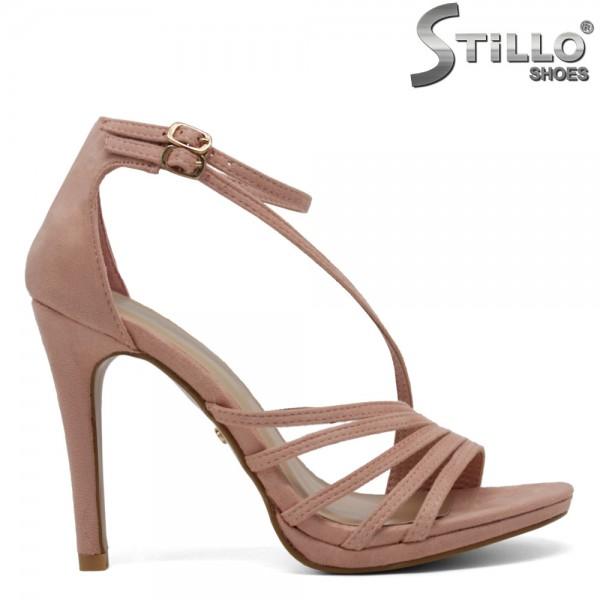 Sandale pentru absolventi de culoare roz cu toc inalt - 30205