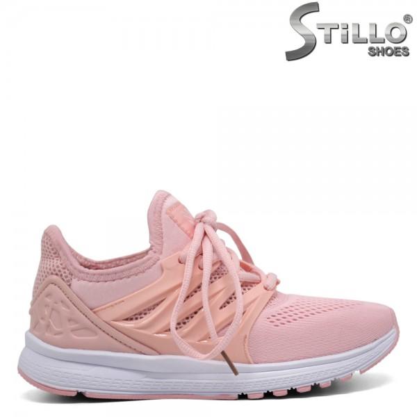 Adidasi de culoare roz cu sireturi - 30212
