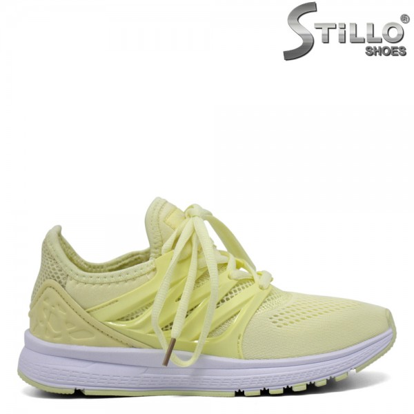 Adidasi moderni de culoare galben-30214