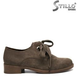 Pantofi  culoare verde oliv - 30216