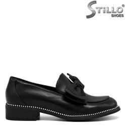 Pantofi cu toc mic si cu funda in partea din fata- 30238