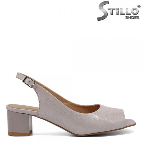 Sandale piele cu toc mijlociu - 30252