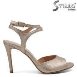 Sandale de culoare aurii- sidef cu toc subtire - 30259