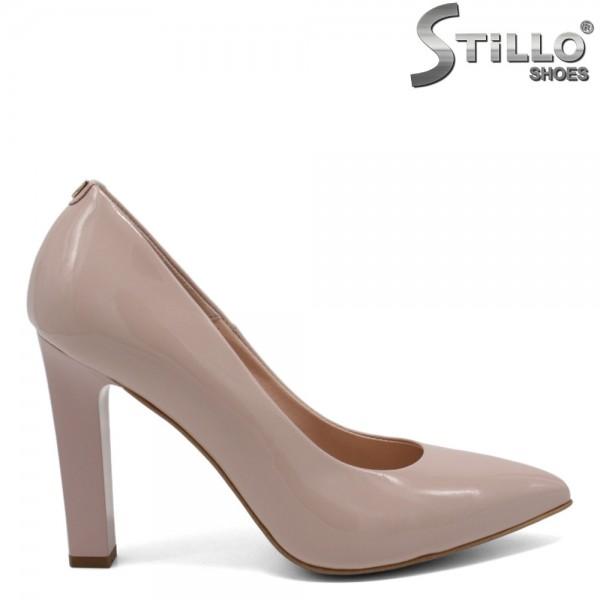 Pantofi de ocazie de culoare roz si cu toc - 30262