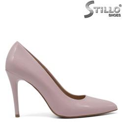 Pantofi de ocazie de culoare roz cu toc - 30276
