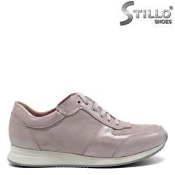 Pantofi tip sport din piele naturala de culoare roz - 30280