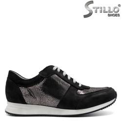 Pantofi tip sport de culoare negru si argintiu- 30283