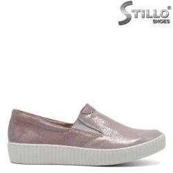 Pantofi de dama tip sport de culoare roz perlat - 30284