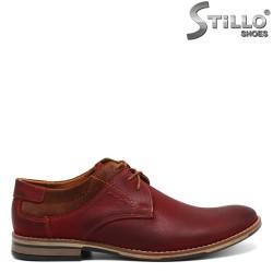 Pantofi barbatesti din piele naturala de culoare bordo - 30288