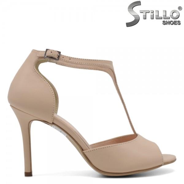 Sandale de culoare bej cu toc inalt si subtire - 30295