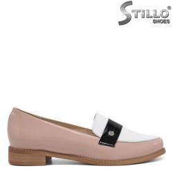 Pantofi moderni de culoare roz din lac natural - 30328