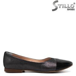 Pantofi de dama  din grafit  de culoare negru - 30336
